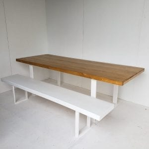 Light Wooden Table and bench seat combo